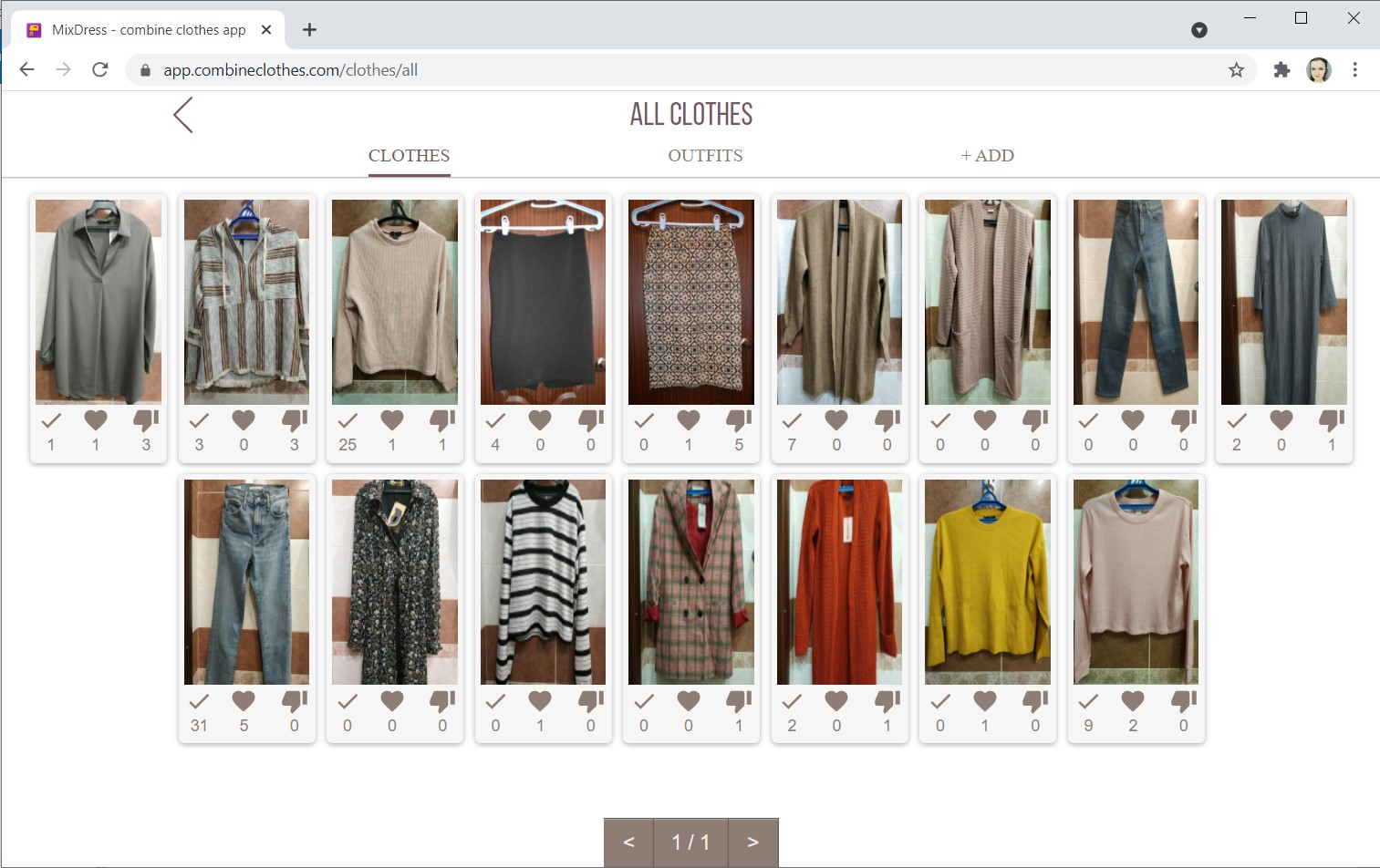 Clothing catalog
